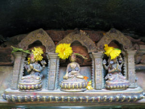 Detail am Goldenen Tempel in Patan